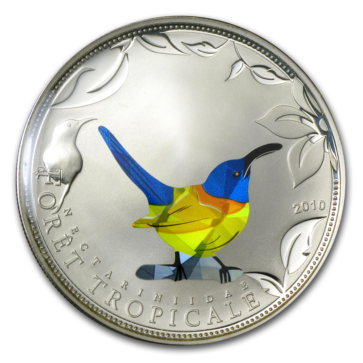 2010 Togo Silver Rainforest Wildlife Blue Sunbird Prism Proof