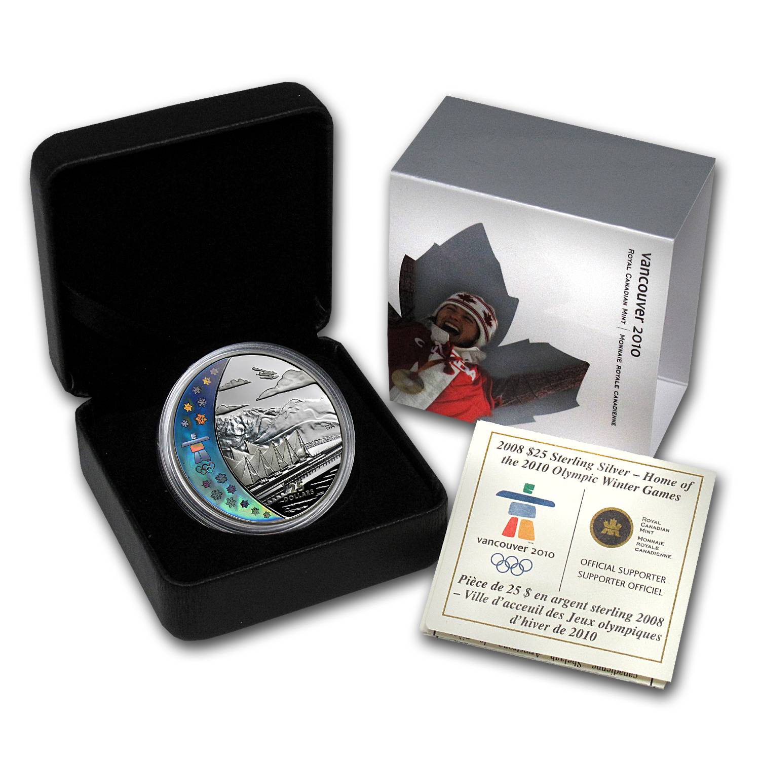 2008 Silver Canadian $25 Olympic Venue (Hologram, w/Box & COA)