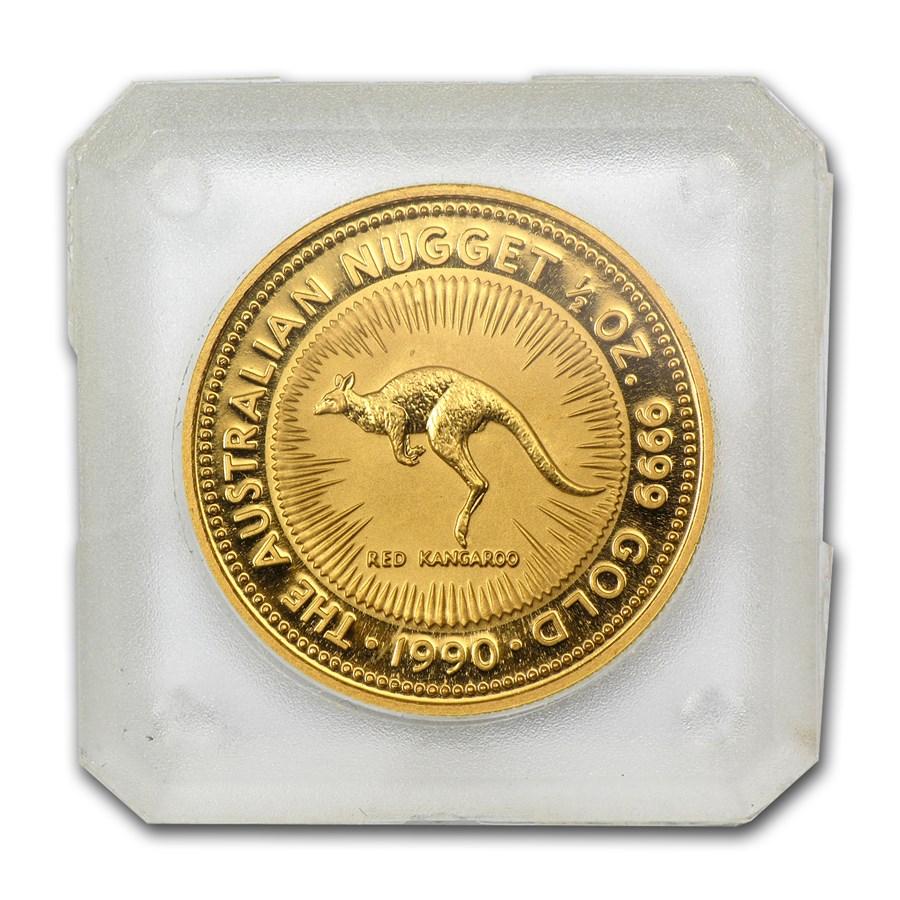 1990 australia 1 2 oz gold nugget bu 1 2 oz gold nugget. Black Bedroom Furniture Sets. Home Design Ideas