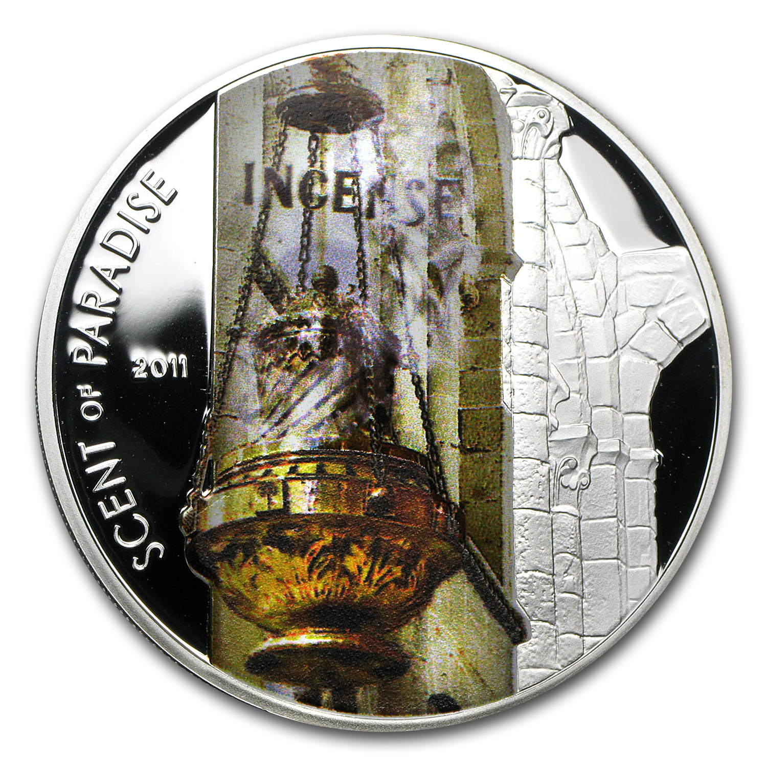 2011 Palau Proof Silver $5 Scent of Paradise Incense