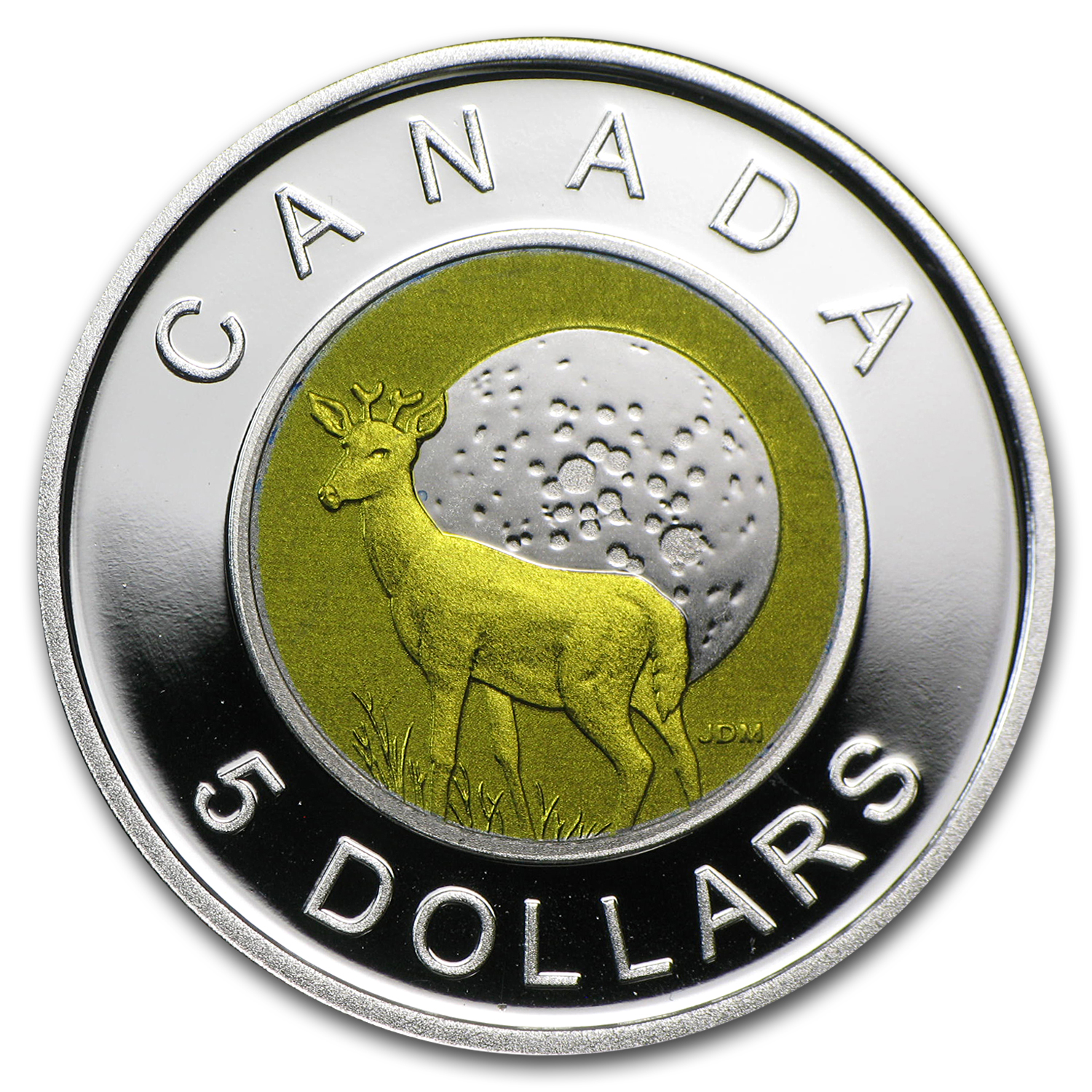2011 Silver & Niobium Canadian $5 Full Buck Moon (w/Box & COA)