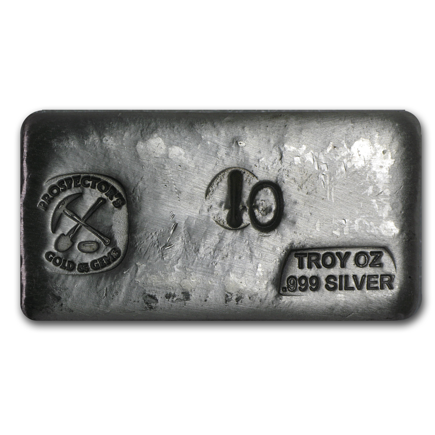 10 oz Silver Bar - Prospector's Gold & Gems