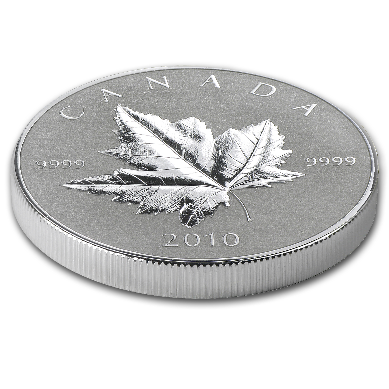 2010 Canada 1/5 oz Gold & 1 oz Silver Piedfort Maple Leaf Set