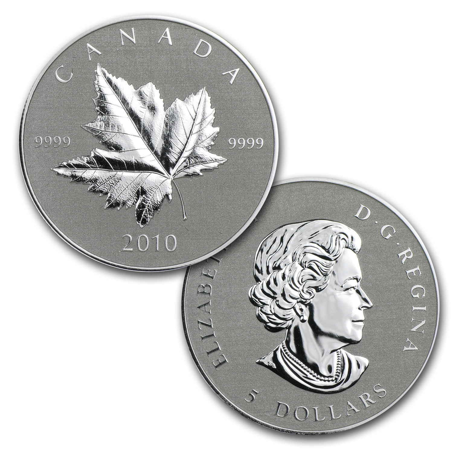 2010 Canadian Piedfort 1/5 oz Gold & 1 oz Silver Maple Leaf Set