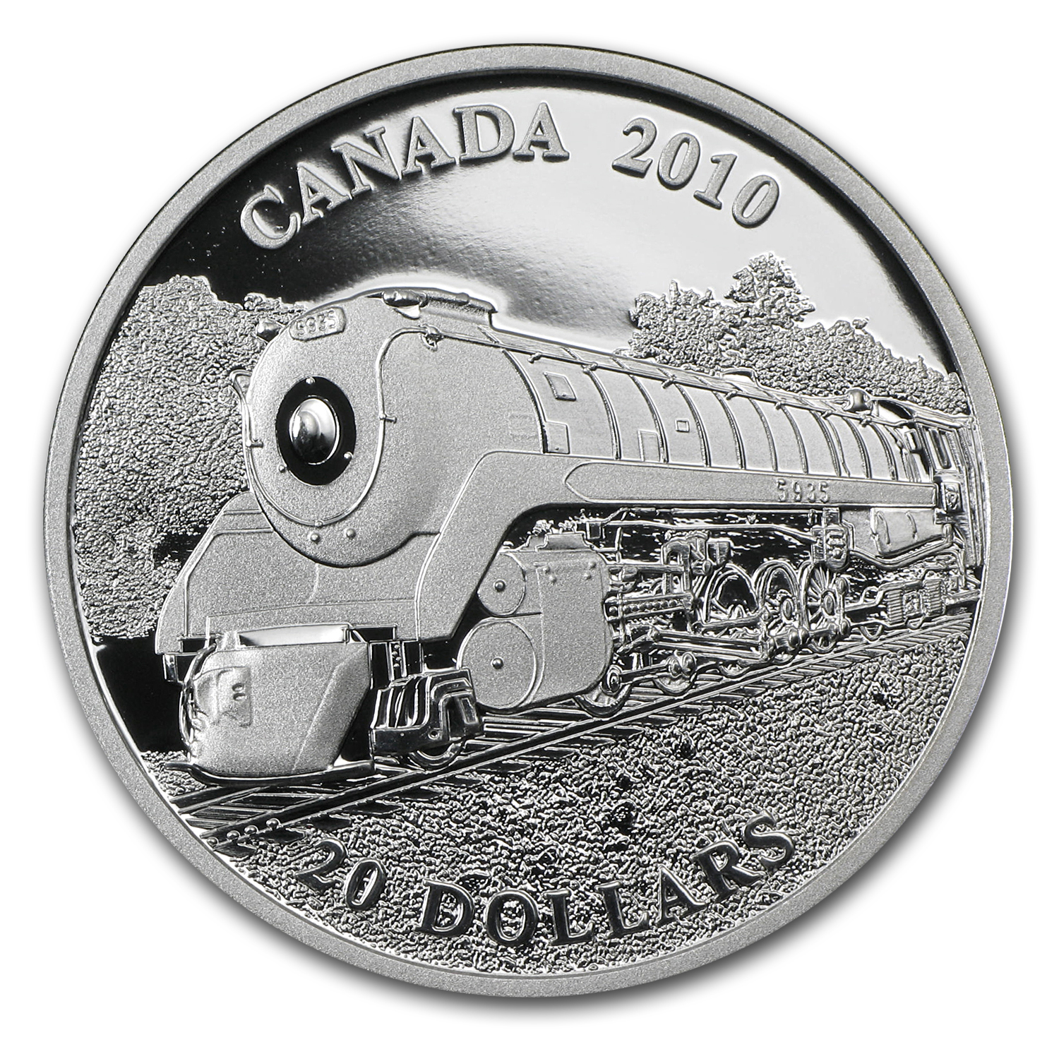 2010 Canada 1 oz Silver $20 Great Locomotives (Selkirk)