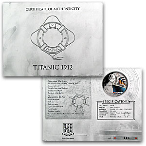 British Virgin Islands 2012 1 Kilo Silver Proof - Titanic