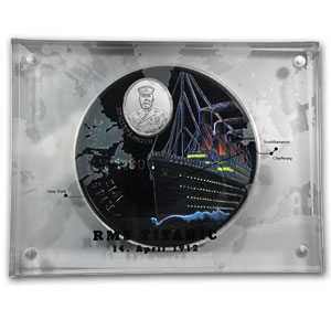 2012 British Virgin Islands 1 kilo Silver Titanic Proof