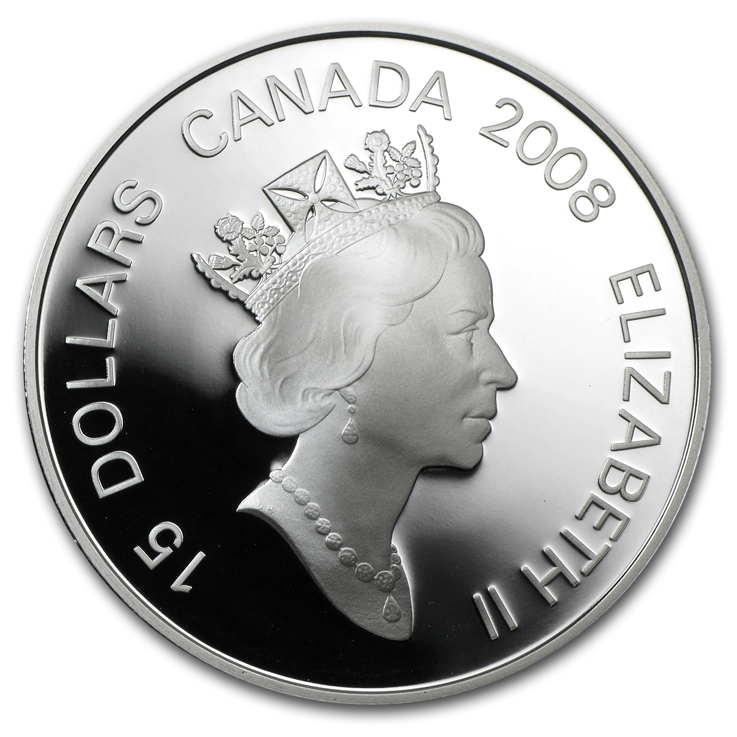 2008 Canada 1 oz Silver $15 Lunar Bimetal RAT Proof (Box & COA)