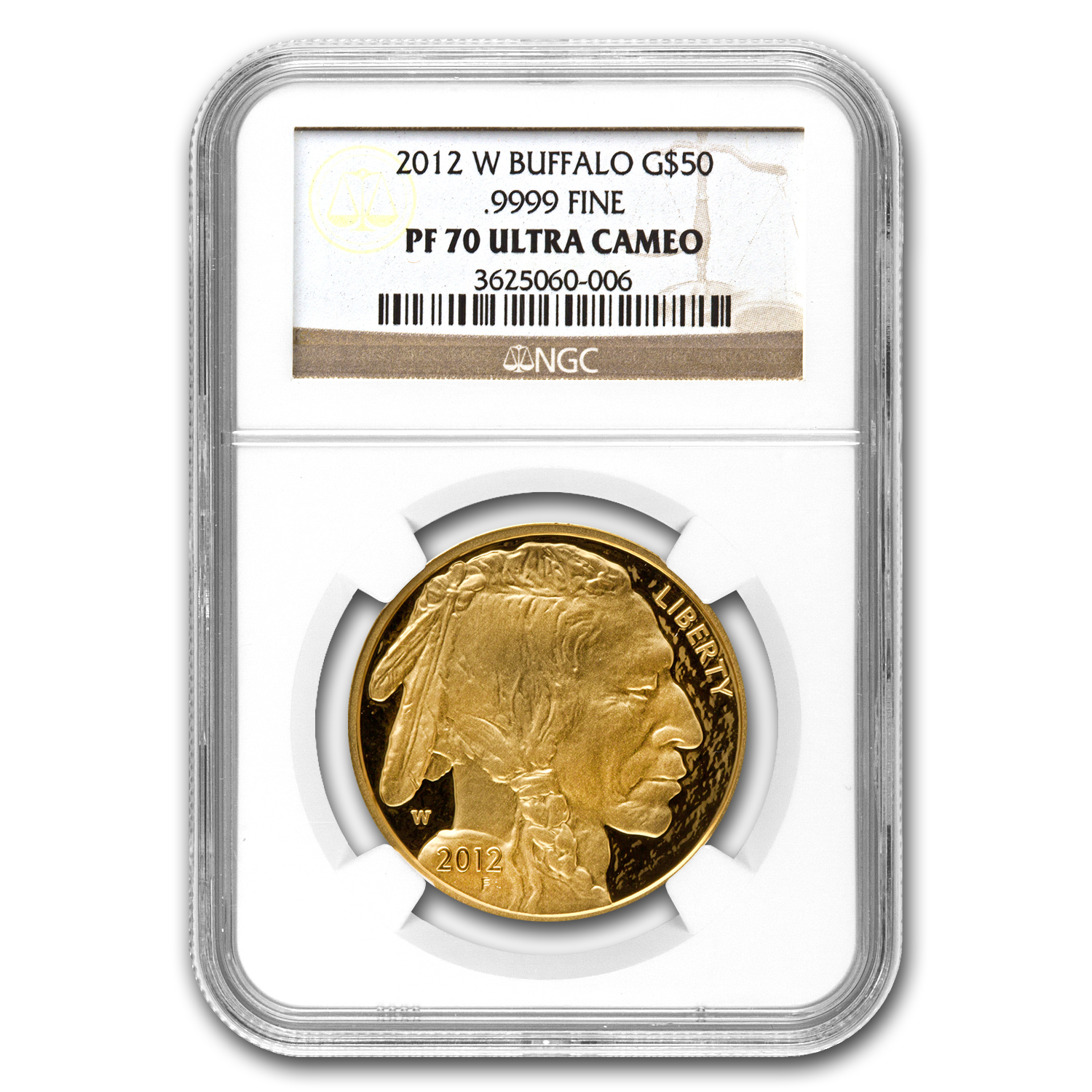 2012-W 1 oz Proof Gold Buffalo PF-70 UCAM NGC