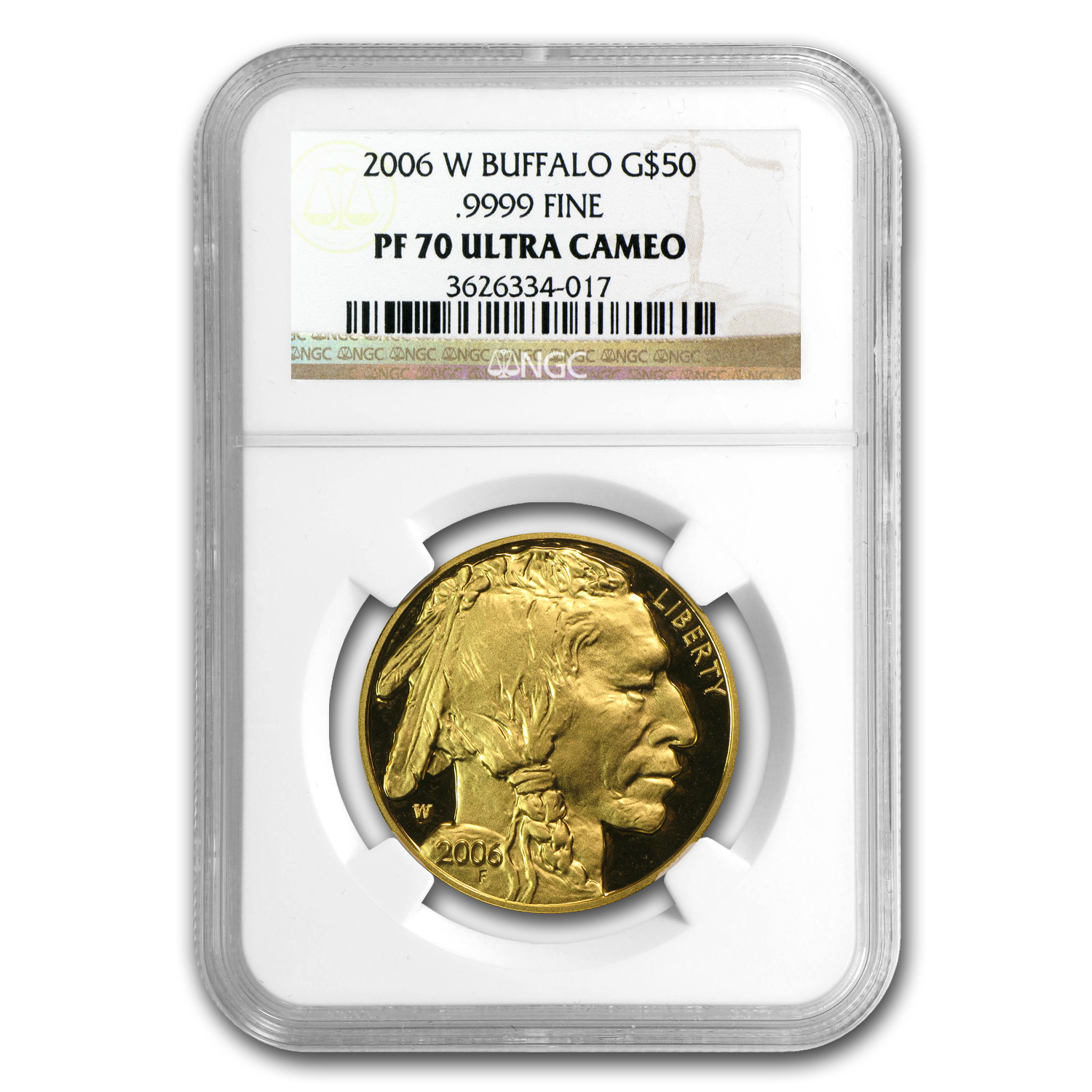 2006-2012 7-Coin 1 oz Proof Gold Buffalo Set PF-70 NGC