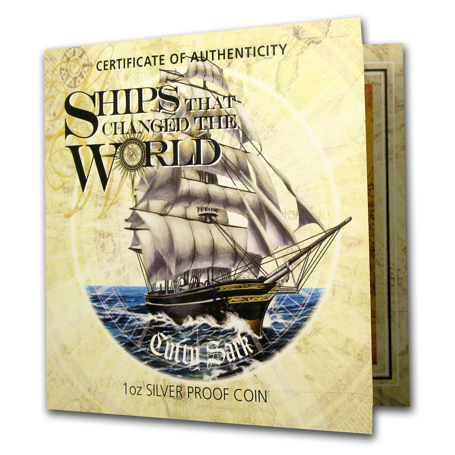 2012 1 oz Silver Ships that Changed the World Proof (Cutty Sark)