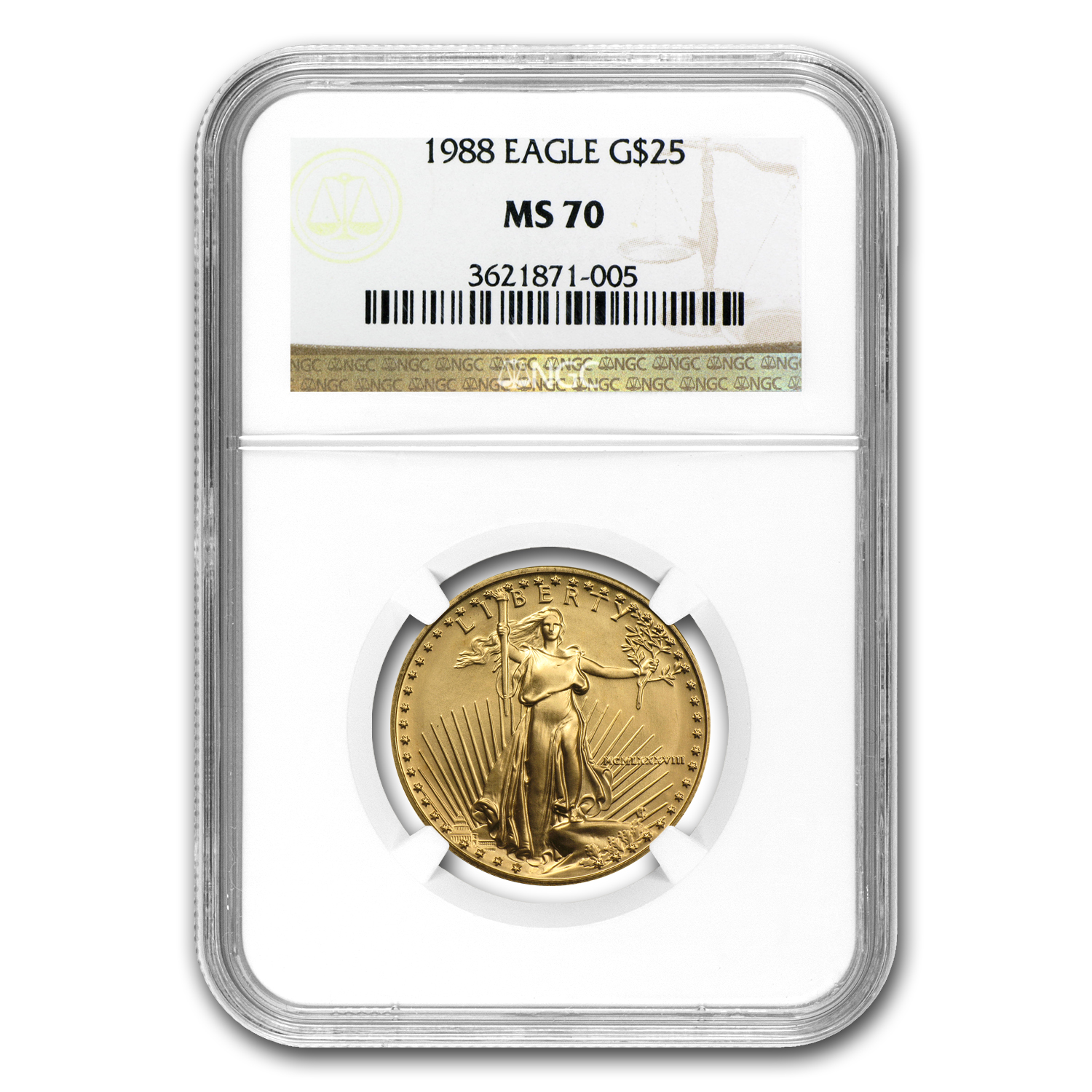 1988 1/2 oz Gold American Eagle MS-70 NGC