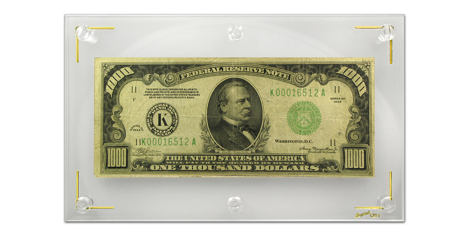 1934 (K-Dallas) $1,000 FRN (Fine Plus) - Scarcer District