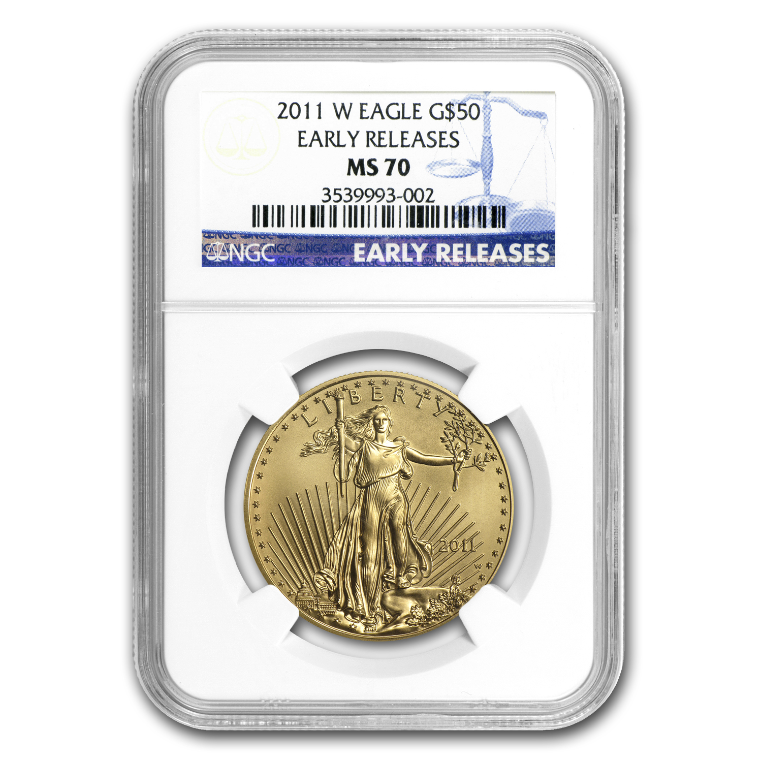 2011-W 1 oz Burnished Gold Eagle MS-70 NGC (ER)