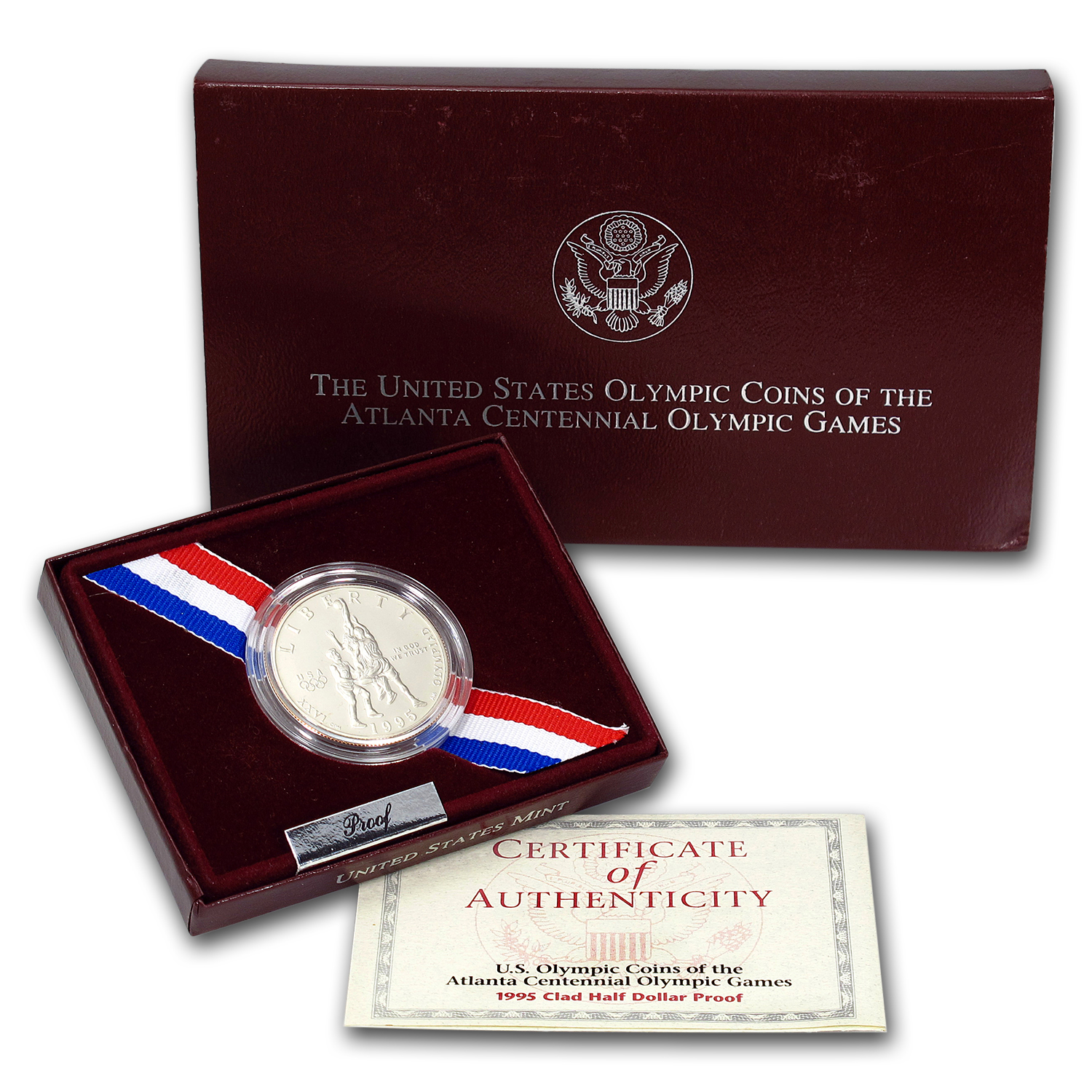 1995-S Olympic Basketball 1/2 Dollar Clad Commem BU (Box/COA)