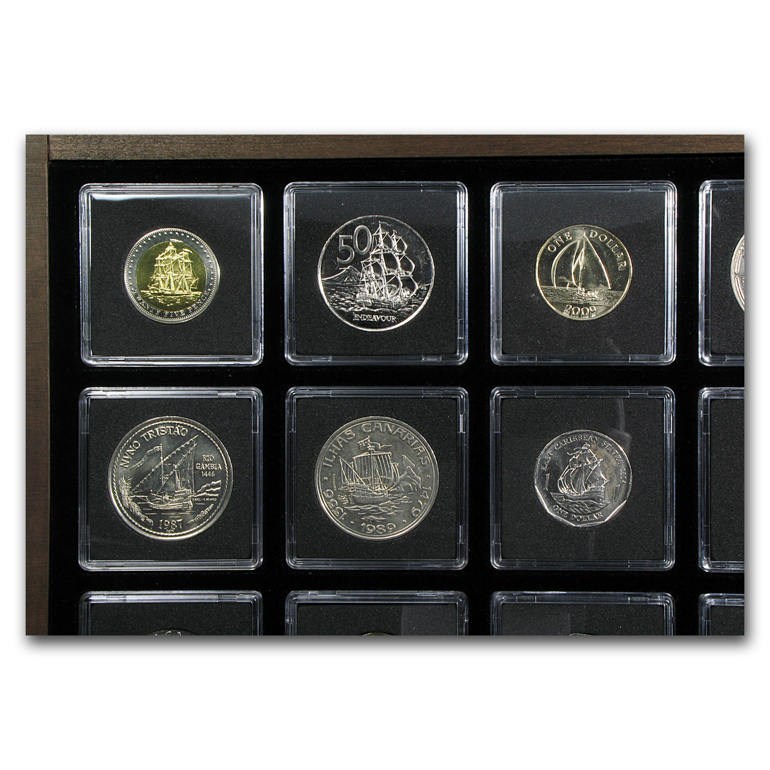 World Ship Collection - 20 Coins From Around the World