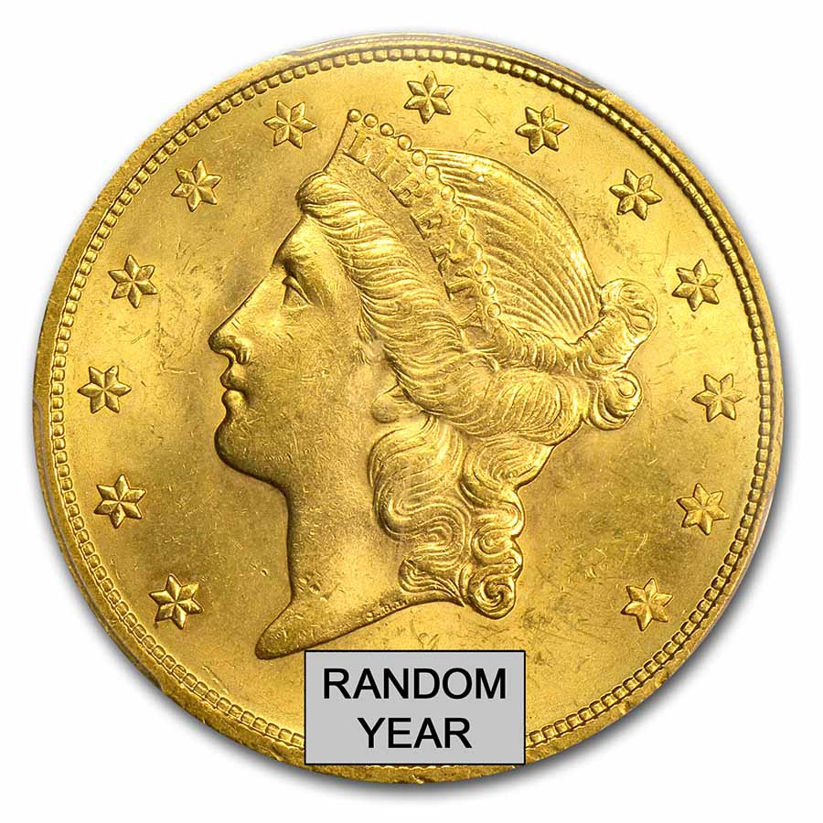 $20 Gold Liberty Double Eagle MS-63+ PCGS