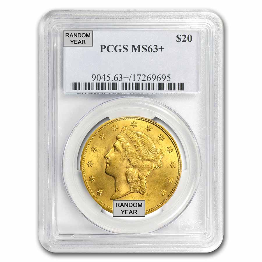 $20 Liberty Gold Double Eagle MS-63+ PCGS (Random)