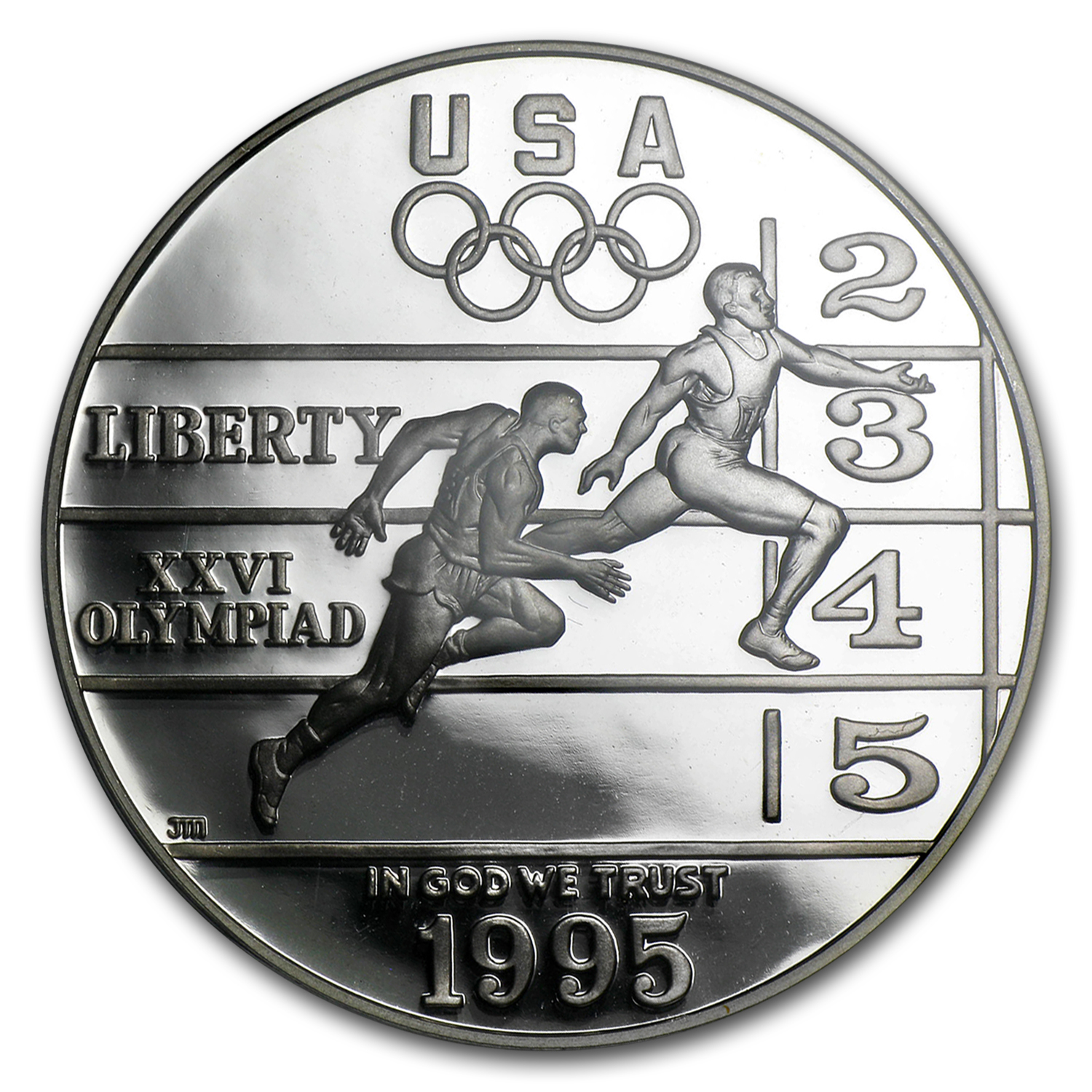 1995-P Olympic Track and Field $1 Silver Commem PR-70 PCGS
