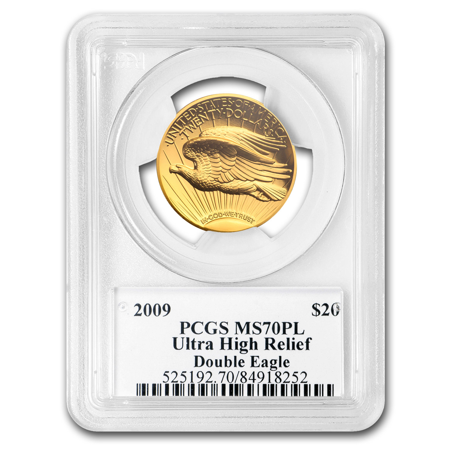 2009 Ultra High Relief Double Eagle MS-70 PL PCGS - Edmund Moy
