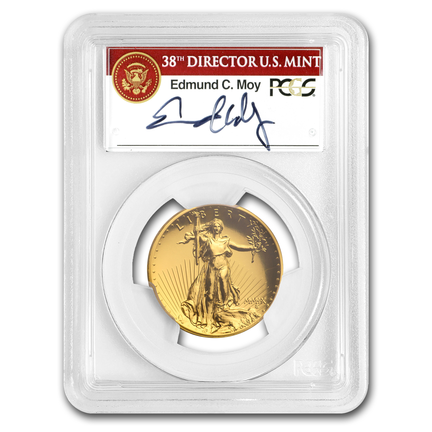 2009 Ultra High Relief Double Eagle MS-70 PL PCGS (Edmund Moy)