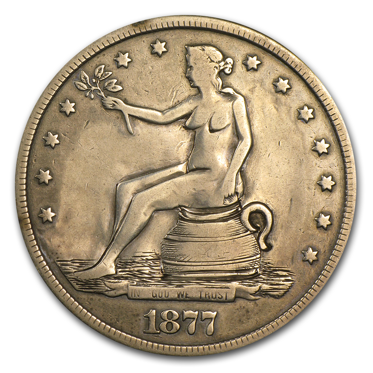 1877-S Trade Dollar - Potty Dollar