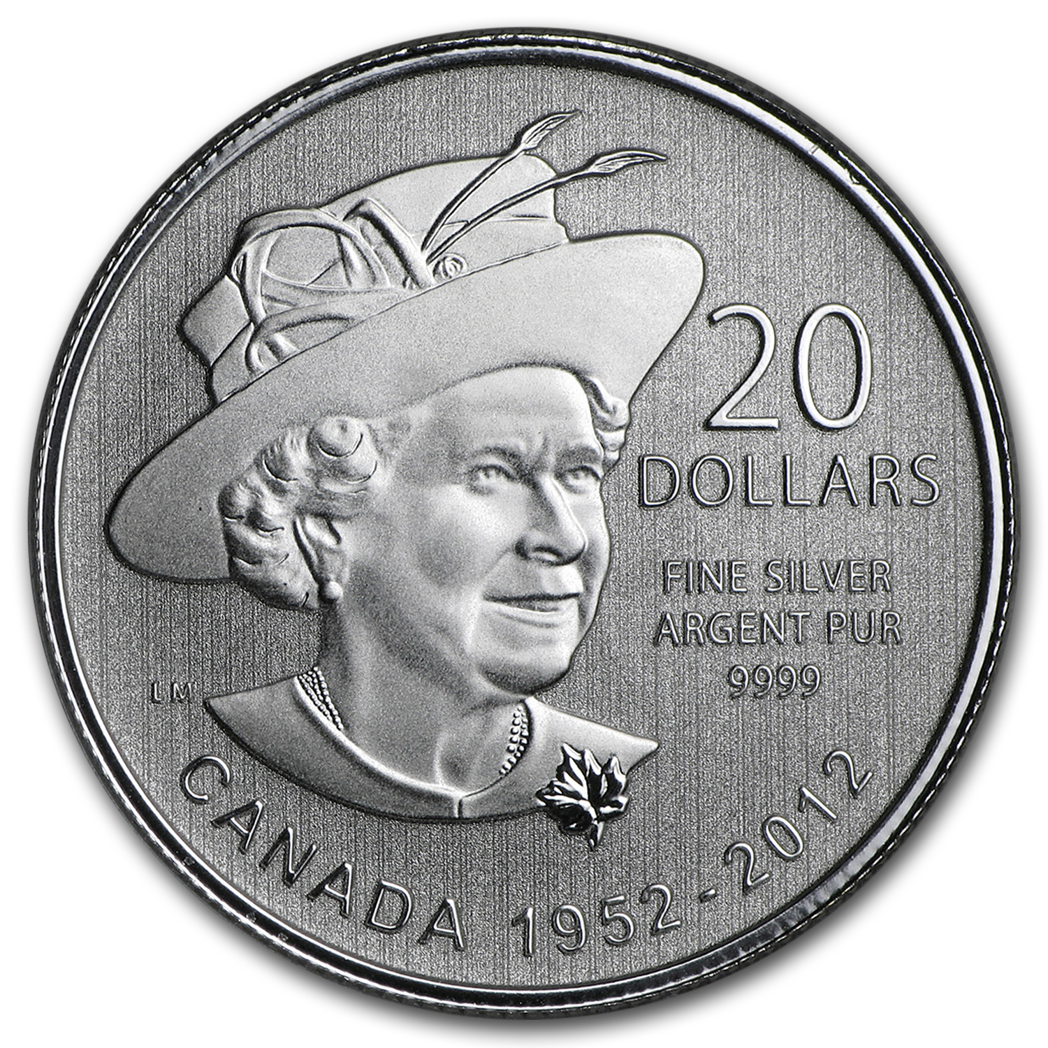 2012 Canada 1/4 oz Silver $20 Queen's Diamond Jubilee
