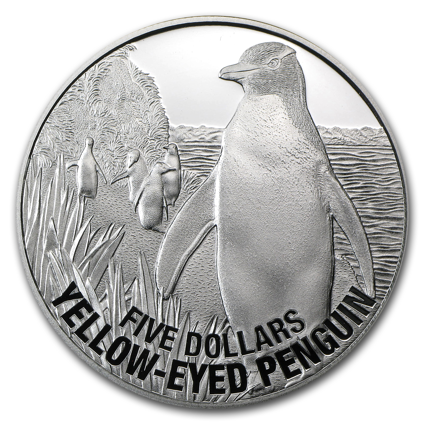 2011 New Zealand 1 oz Silver $5 Yellow Eyed Penguin (Proof)