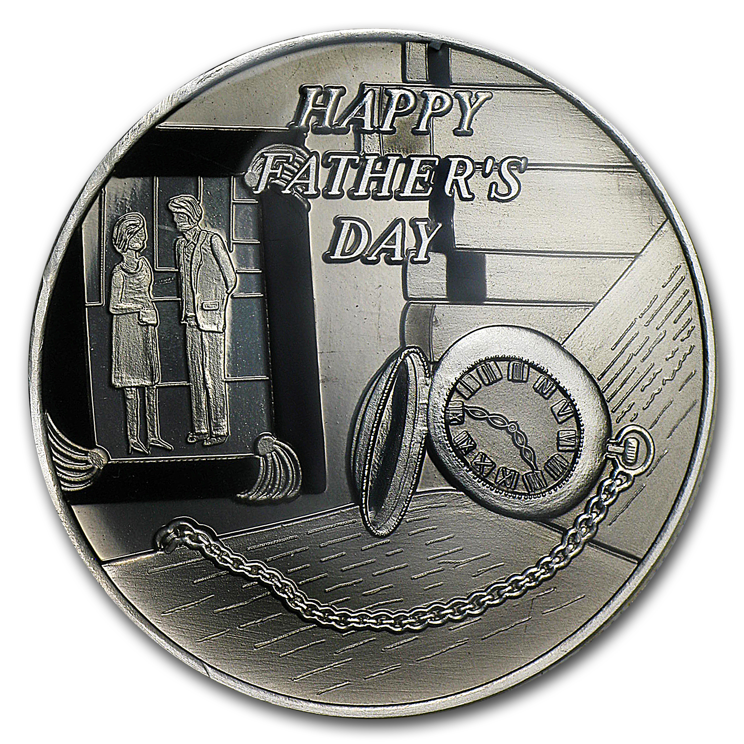 1 oz Silver Round - Happy Father's Day Enameled (w/Box & Cap)