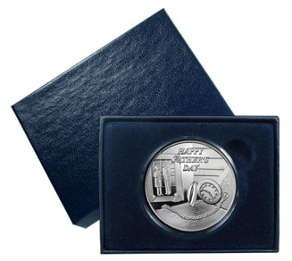 1 oz Happy Father's Day Silver Round (w/Gift Box & Capsule)