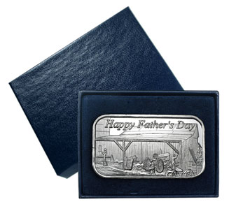 1 oz Father's Day Silver Bar (w/Gift Box & Capsule)
