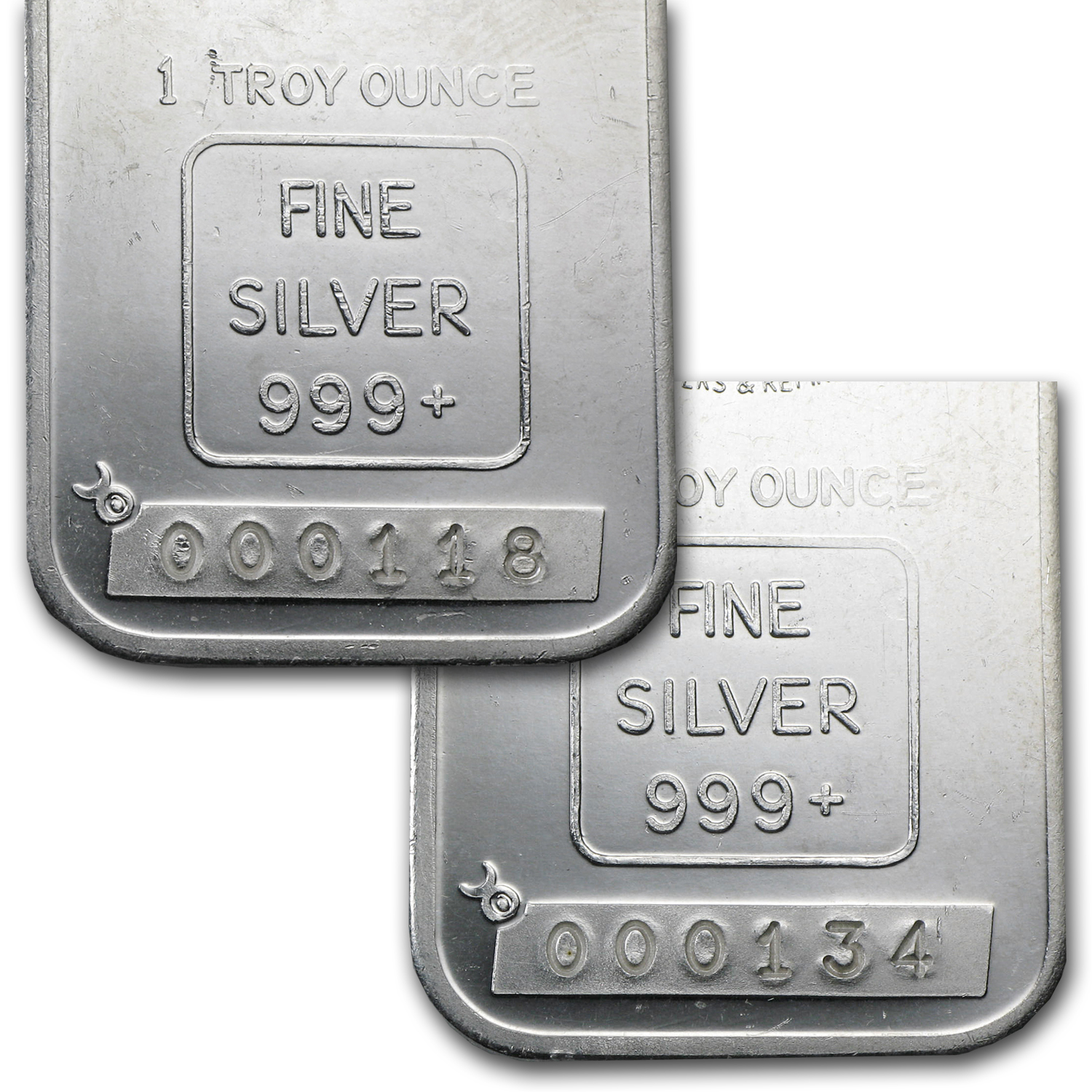 1 oz Silver Bars - Engelhard (Tall/Maple/Smooth/Low Serial #)