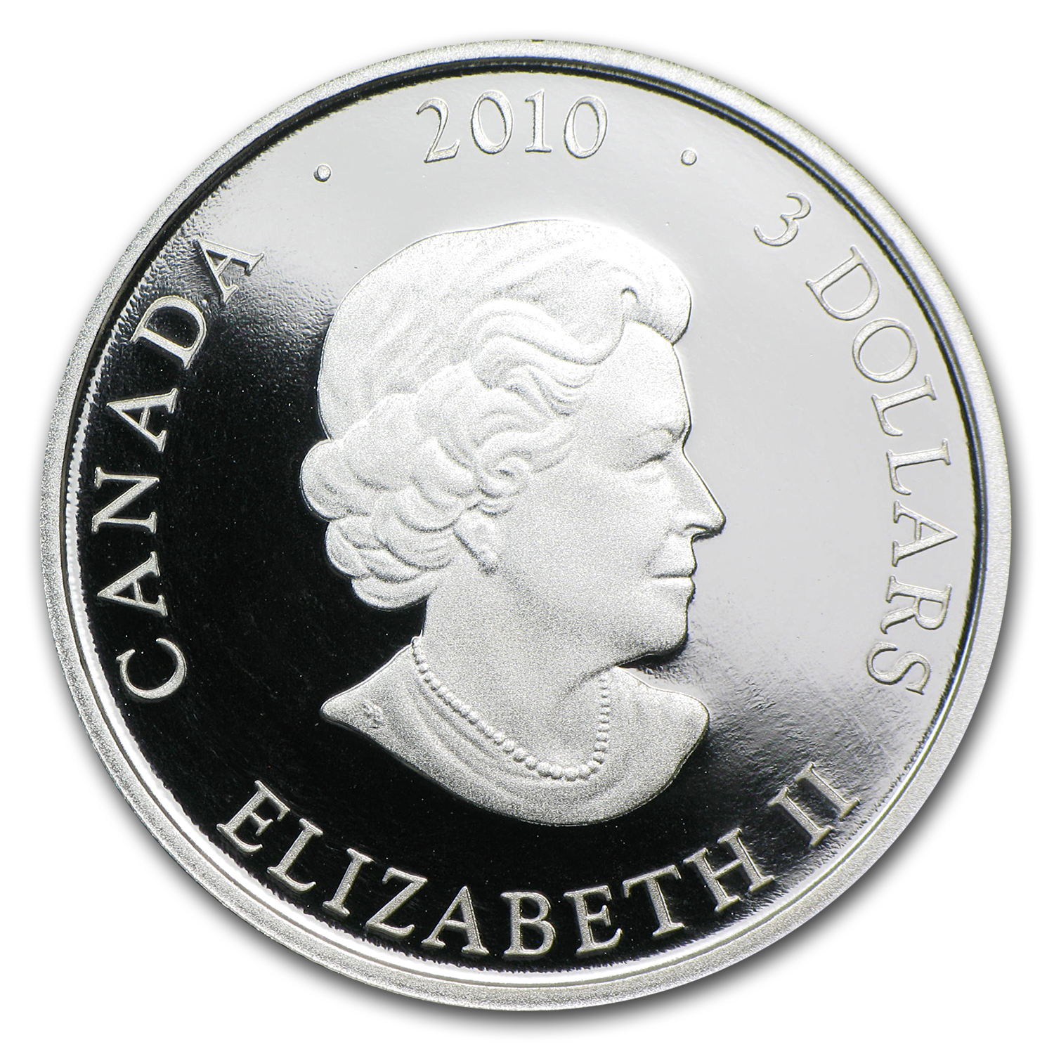 2010 Canada 1/4 oz Silver $3 Return of the Tyee (Gilded)