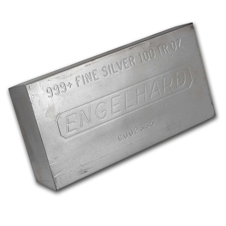 100 Oz Silver Bar Engelhard Struck Plain 100 Oz