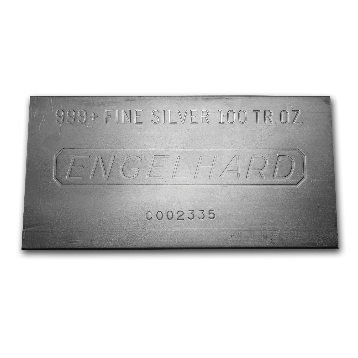 100 Oz Silver Bar Engelhard Struck Plain 100 Oz