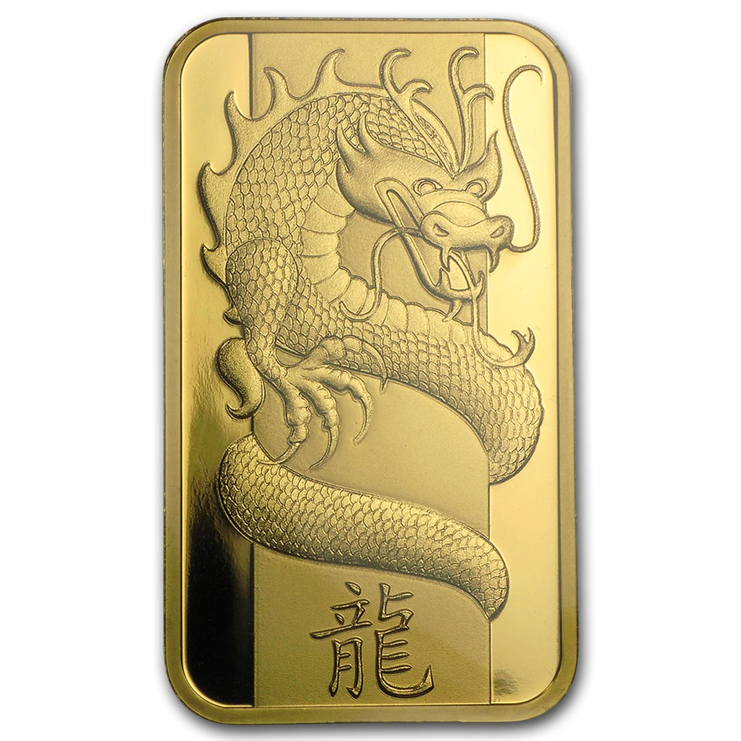 1 oz Gold Bars - Pamp Suisse (Year of the Dragon, in Assay)