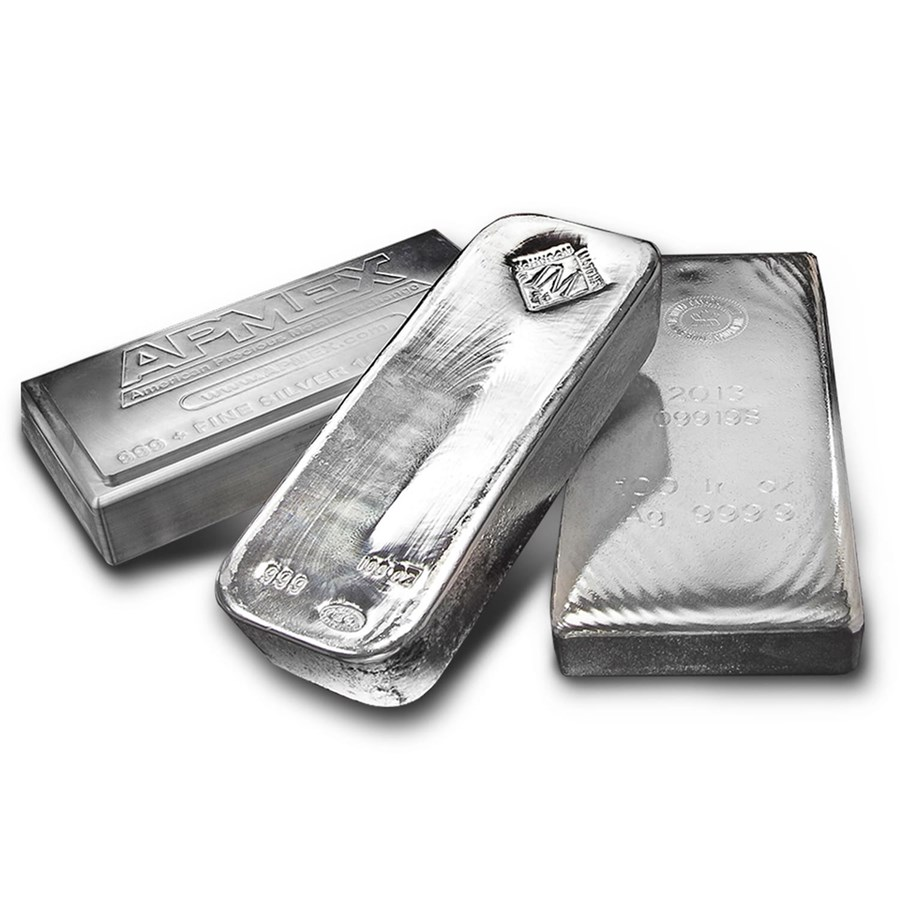 Buy 100 Oz Silver Bar For Sale Buy Silver Bullion Bars