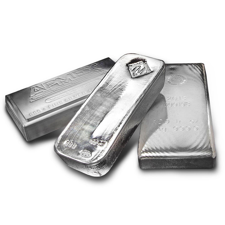 Buy 100 Oz Silver Bar For Sale Buy Silver Bullion Bars