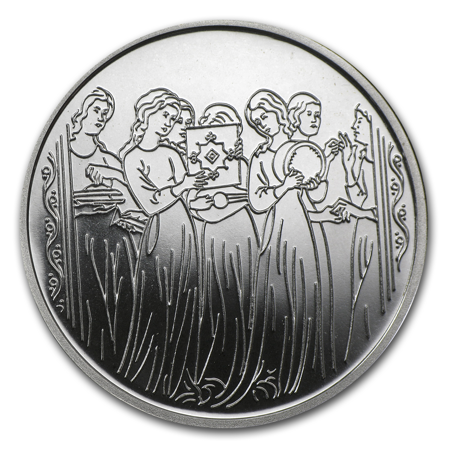 1996 Israel Miriam & the Women Proof-Like Silver 1 NIS Coin