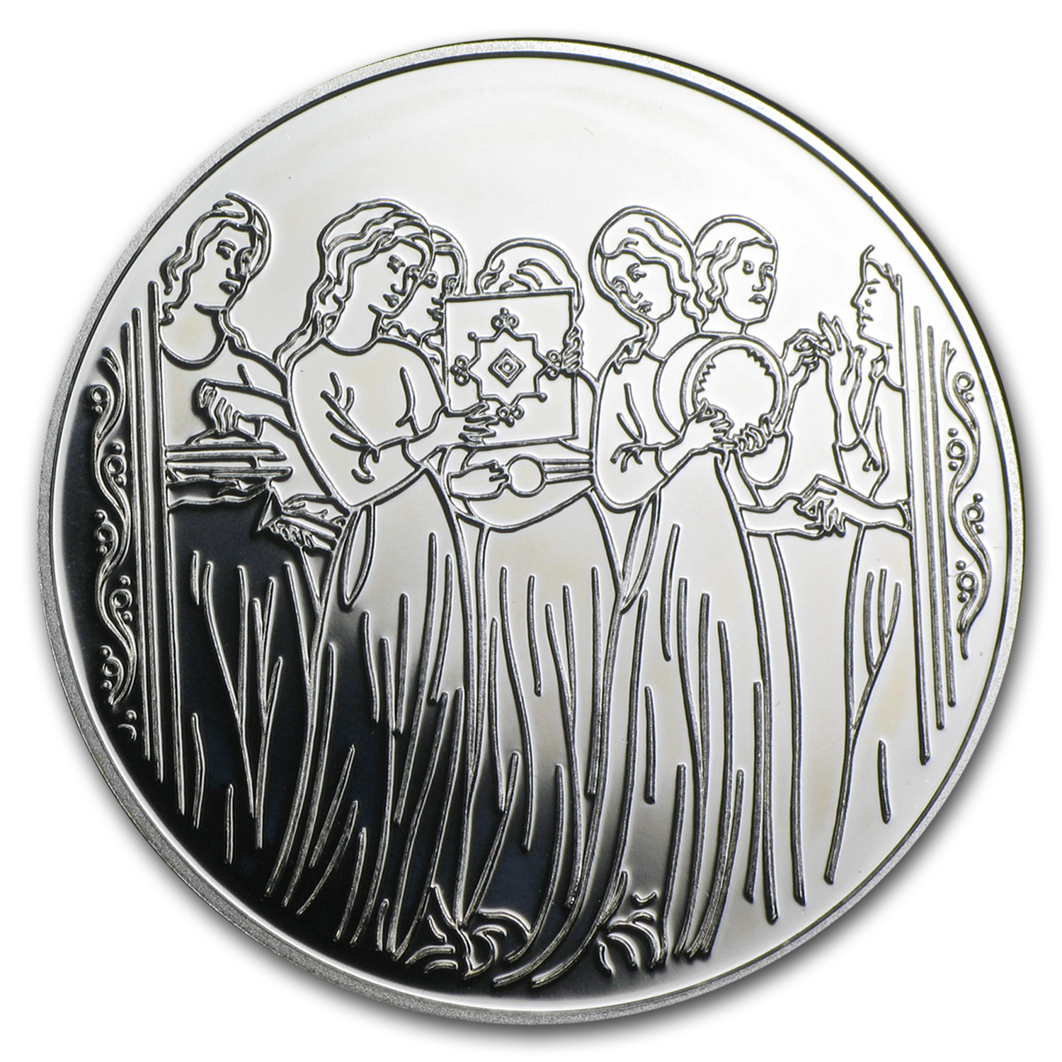 1996 Israel Miriam & the Women Proof Silver 2 NIS Coin w/Box