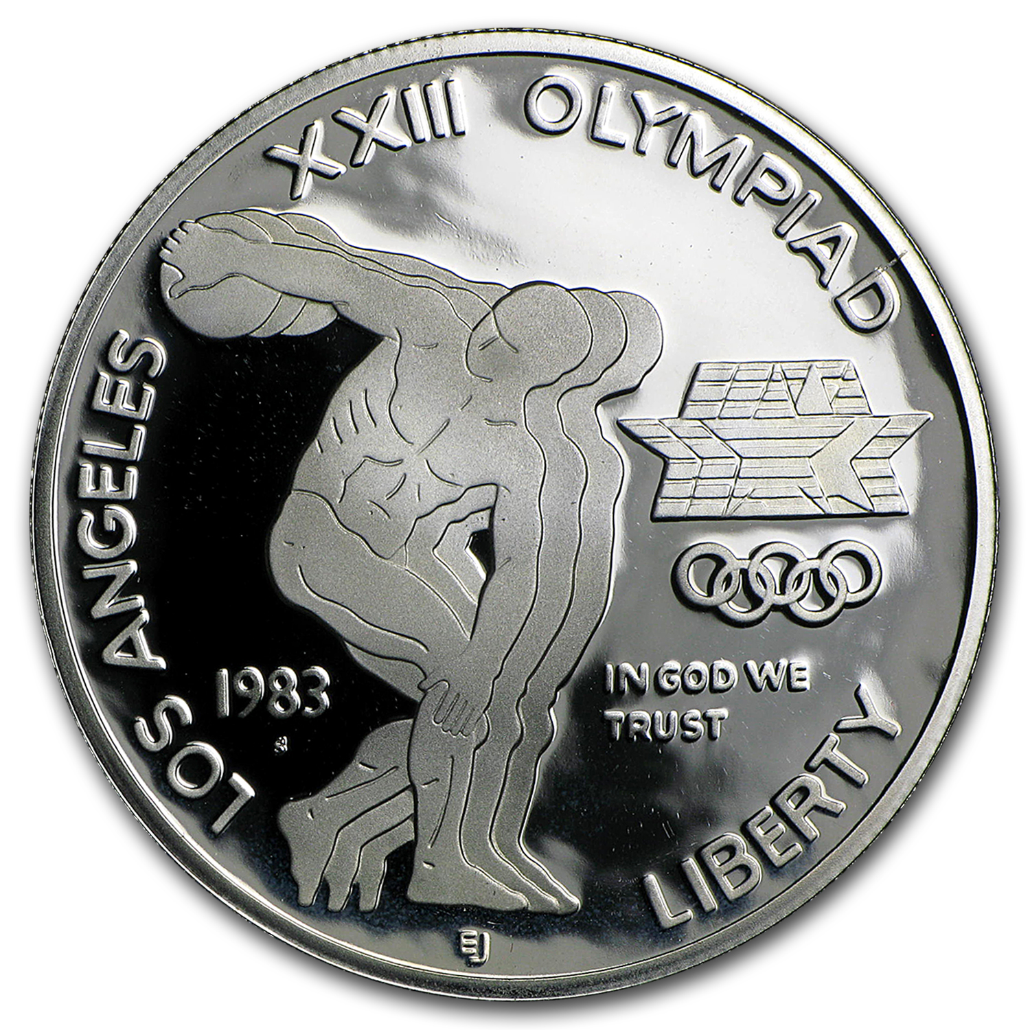 1983-S Olympic $1 Silver Commem Proof (w/Box & COA)
