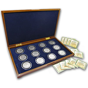 Belarus 2009 Oxidized Silver Zodiac Signs - 12-coin Box Set