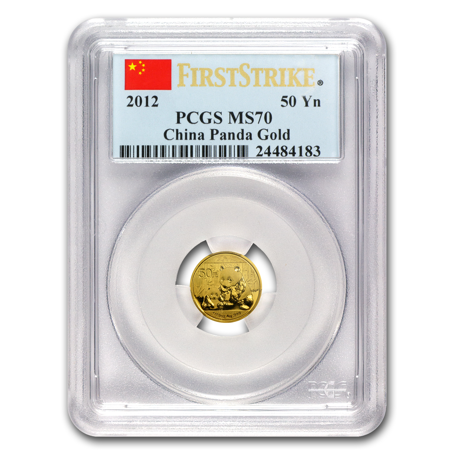 2012 China 1/10 oz Gold Panda MS-70 PCGS (First Strike)