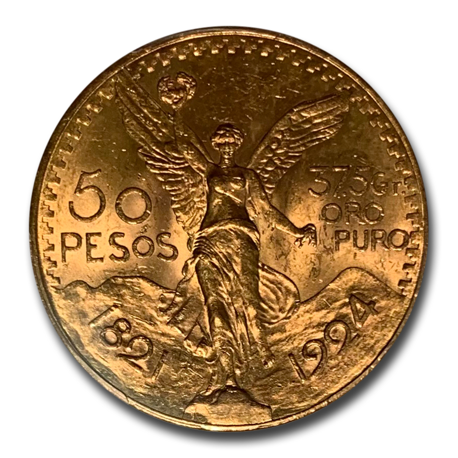 Mexico 1924 50 Pesos Gold Coin - MS-63 PCGS