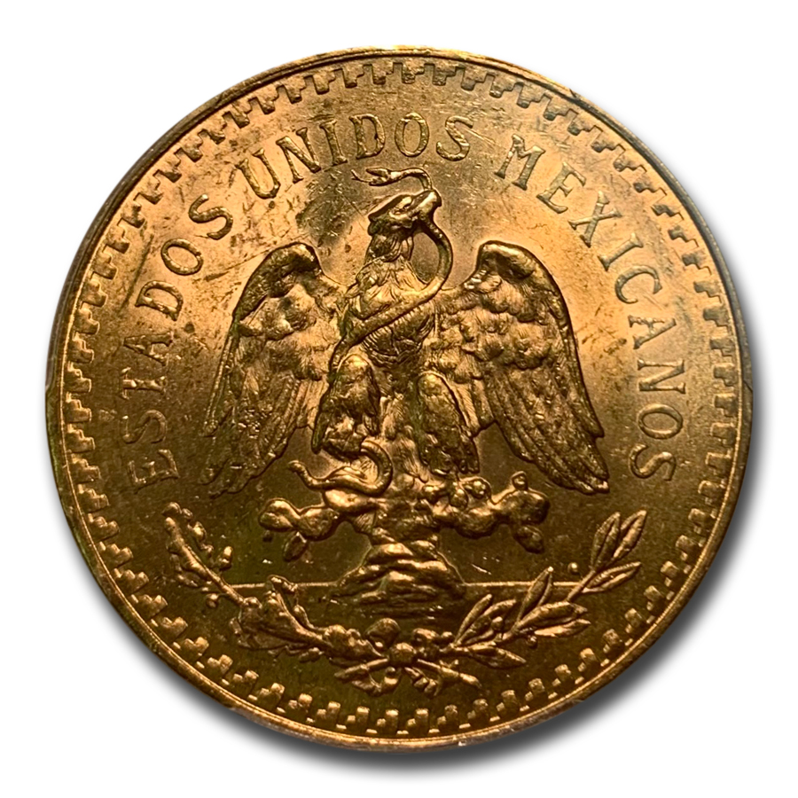 Mexico 1924 50 Pesos Gold MS-63 PCGS