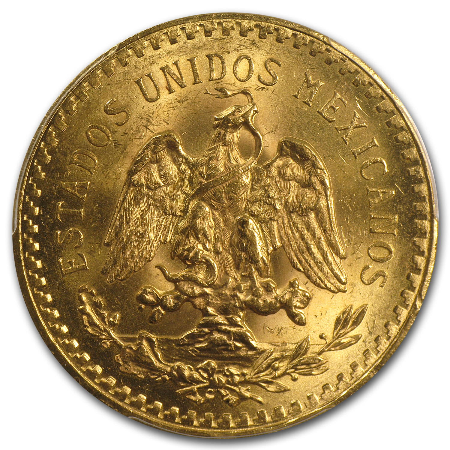 Mexico 1926 50 Pesos Gold Coin - MS-63 PCGS