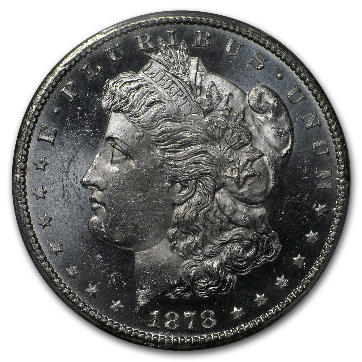 1878-CC Morgan Dollar MS-64 PL Proof Like PCGS