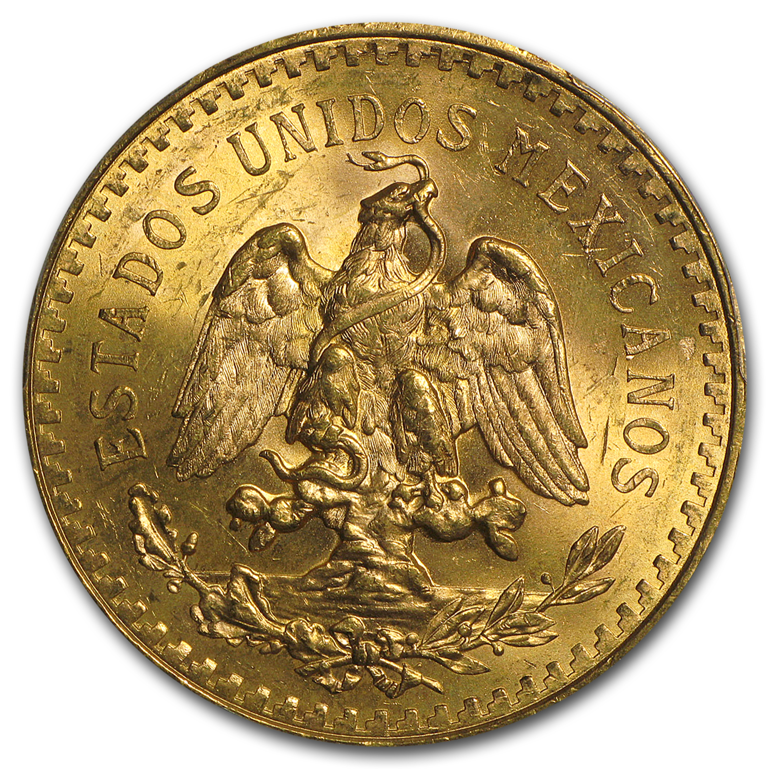 Mexico 1944 50 Pesos Gold MS-64 PCGS