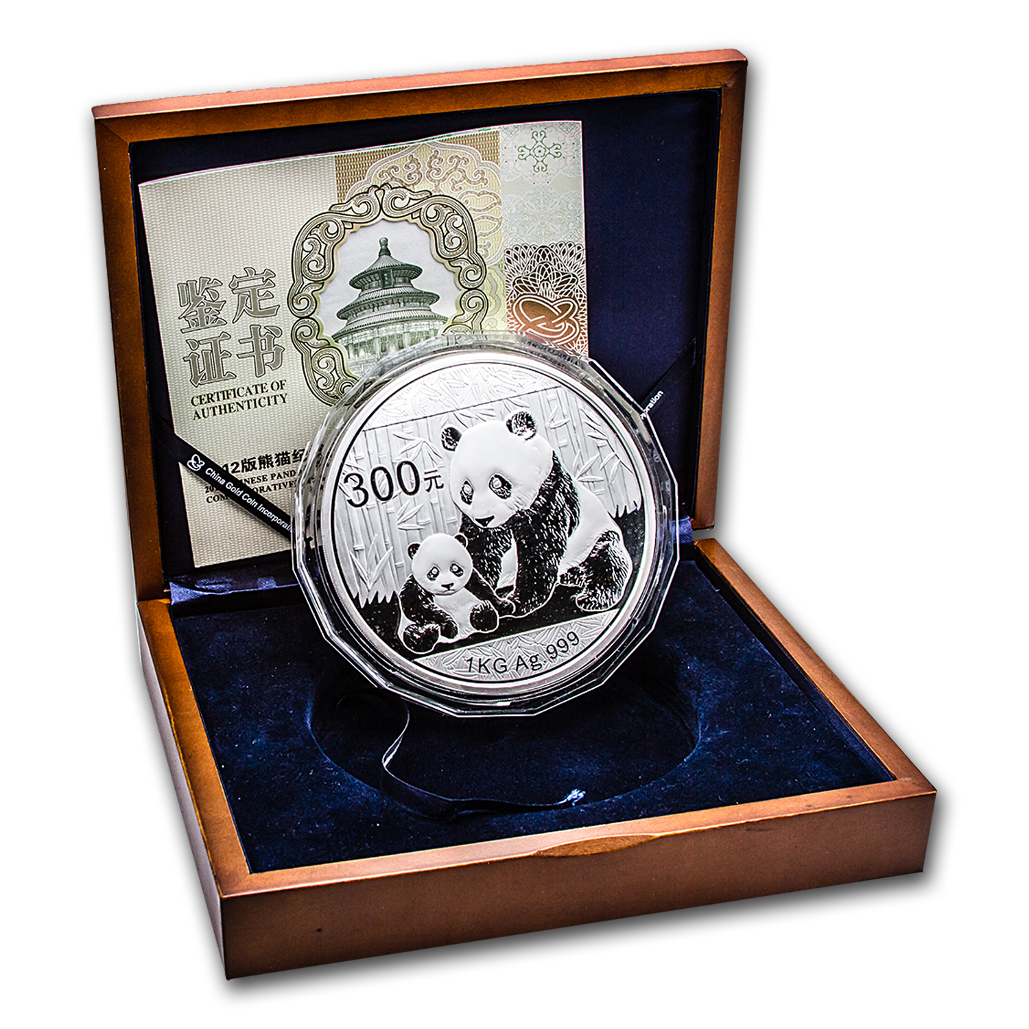 2012 (Kilo Proof) Silver Chinese Panda (W/Box & COA)