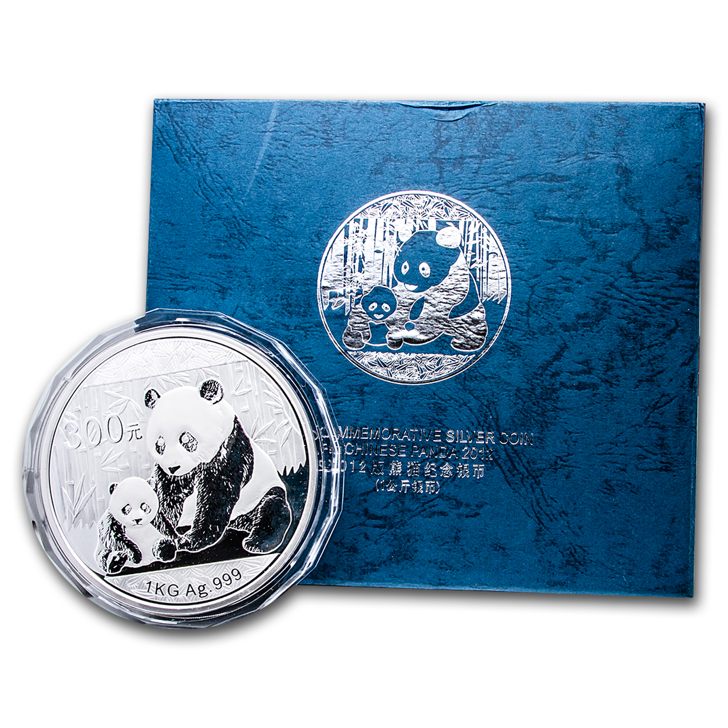 2012 1 Kilo Silver Chinese Panda Proof (w/Box & COA)